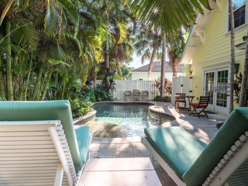 pool area of a 2 and 3 bedroom rental in Anna Maria Island