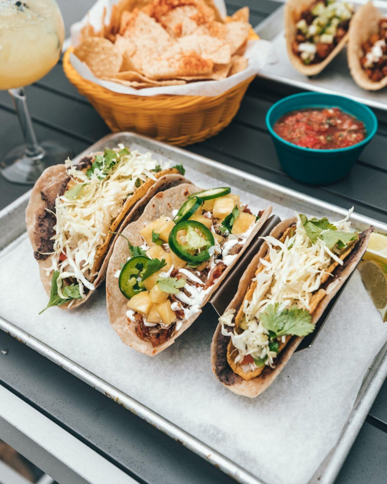 tacos at a restaurant