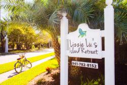 lizzie lu's island retreat sign