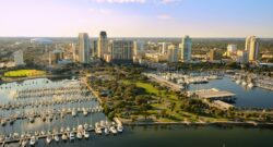 st. pete aerial view of city