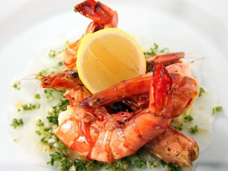 fine dining seafood plated